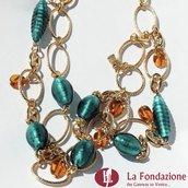 Collana Catenata Paris in vetro di Murano