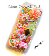 Cover IPhone 6/6s FLESSIBILE idea regalo caramelle, biscotti, cookie, rose, cioccolato, cupcake, pstel goth