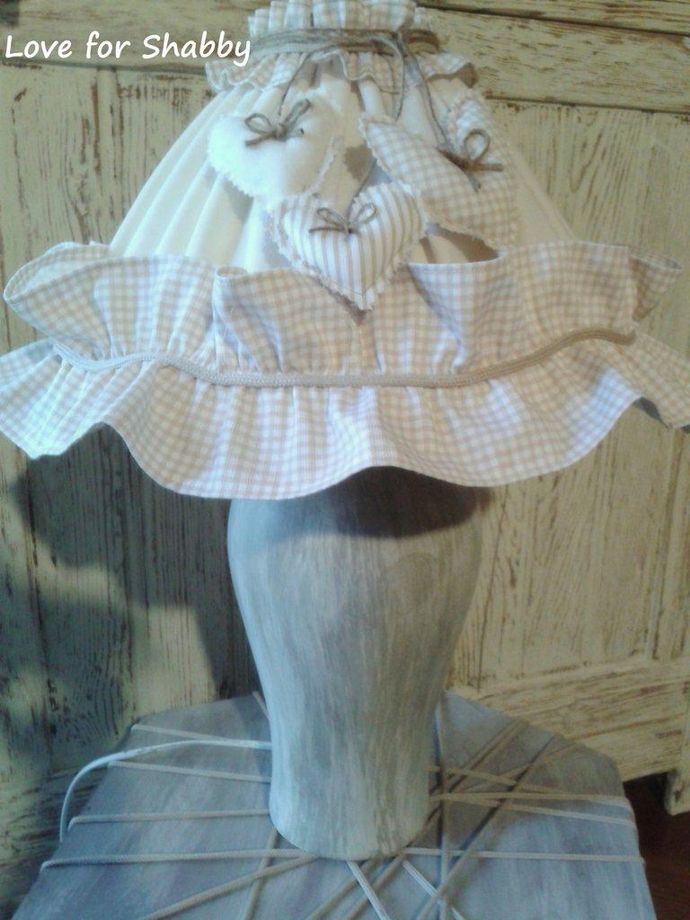lamp de jour---stile country con un tocco di colore shabby interamente handmade