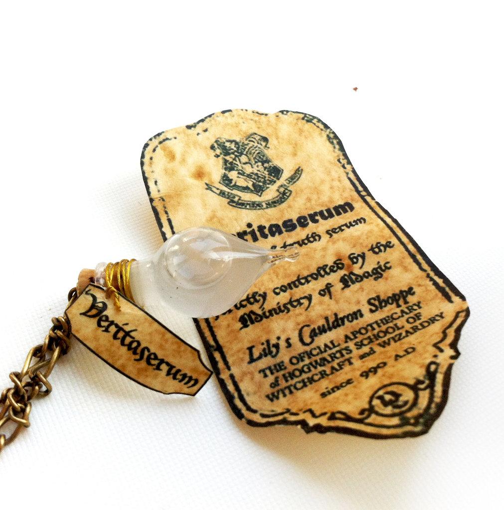 Collana con pendente a bottiglietta: Veritaserum Harry Potter
