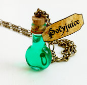 Collana con pendente a bottiglietta: Polyjuice Harry Potter