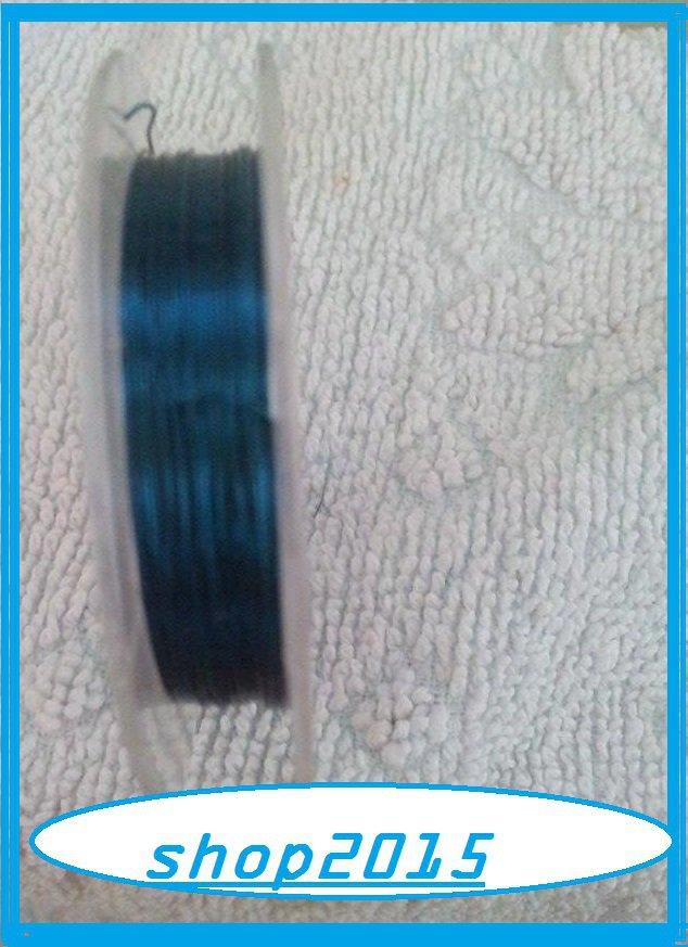 10 mt Filo in rame da 0,3mm azzurro per bijoux