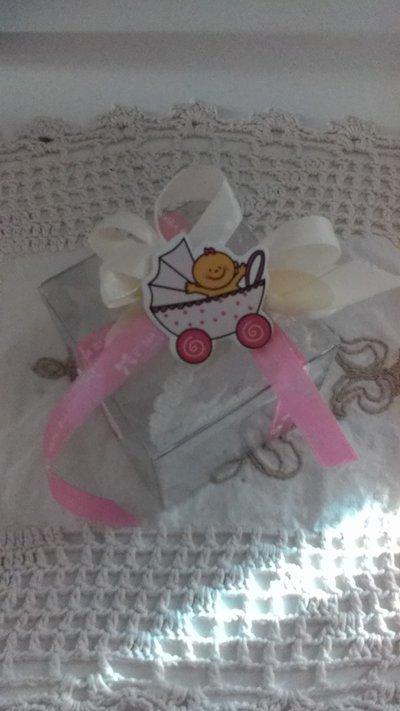 SCATOLINA Porta confetti nascita