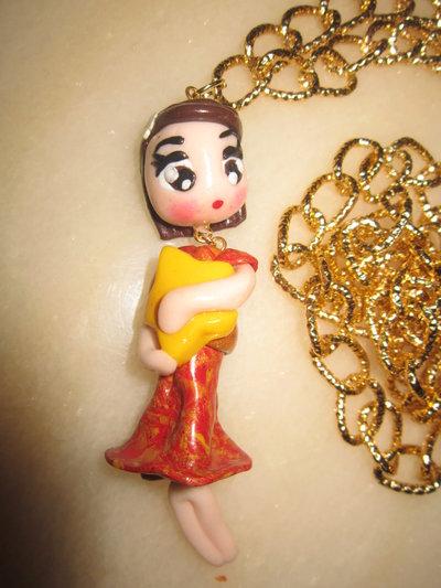 Collana bambolina in fimo con stellina
