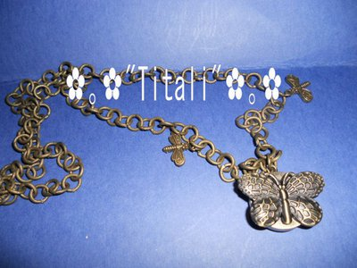 Collana orologio a forma di farfalla