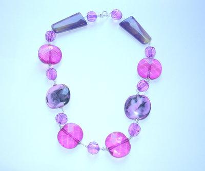 collana rosa fucsia e viola