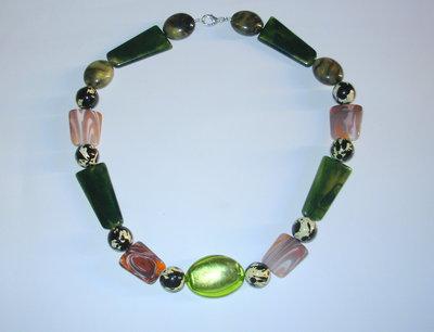 collana perle pvc multicolor