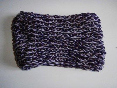 Scaldacollo 100% lana viola e lilla