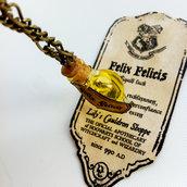 Collana con pendente a bottiglietta: Felix Felicis Harry Potter