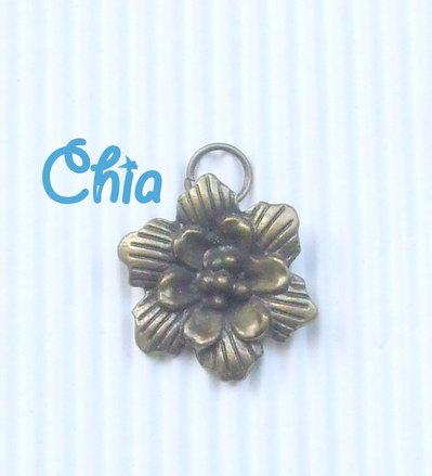 5 charms maxi fiore bronzo