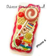 Cover IPhone 6/6s FLESSIBILE Verde, lecca lecca, lollipop, caramelle, cioccolato, donut, ciambelle, anguria