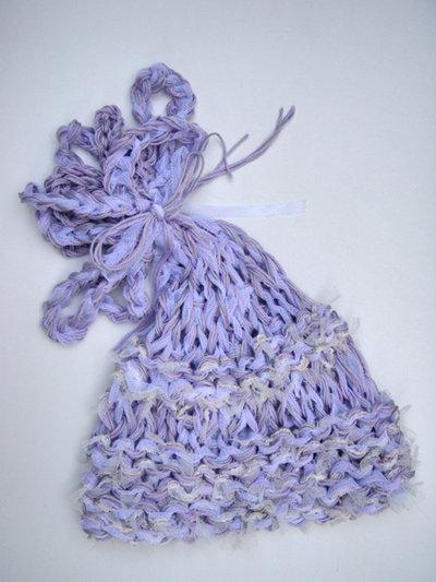 cappellino neonato lilla