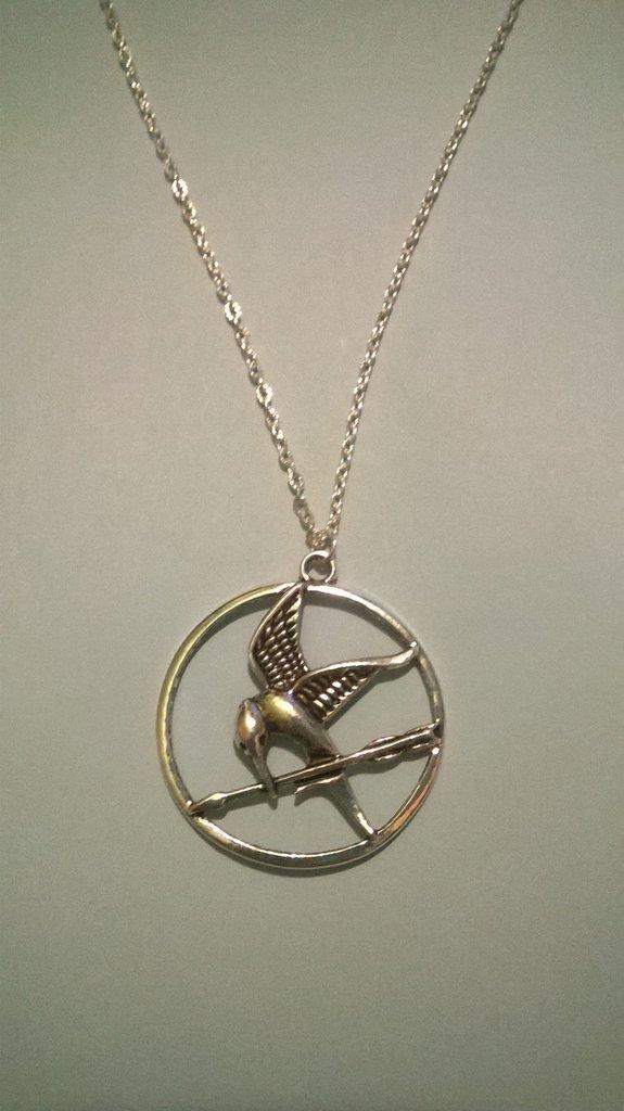 collana ghiandaia imitatrice  in metallo
