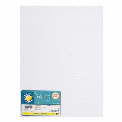 Foglio pannolenci 23x30 cm - Bianco