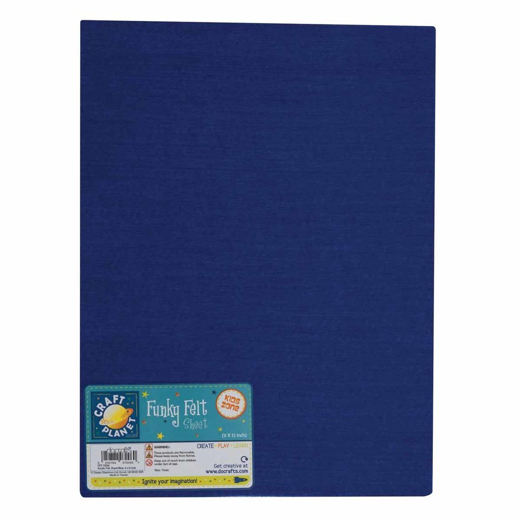 Foglio pannolenci 23x30 cm - Royal Blue