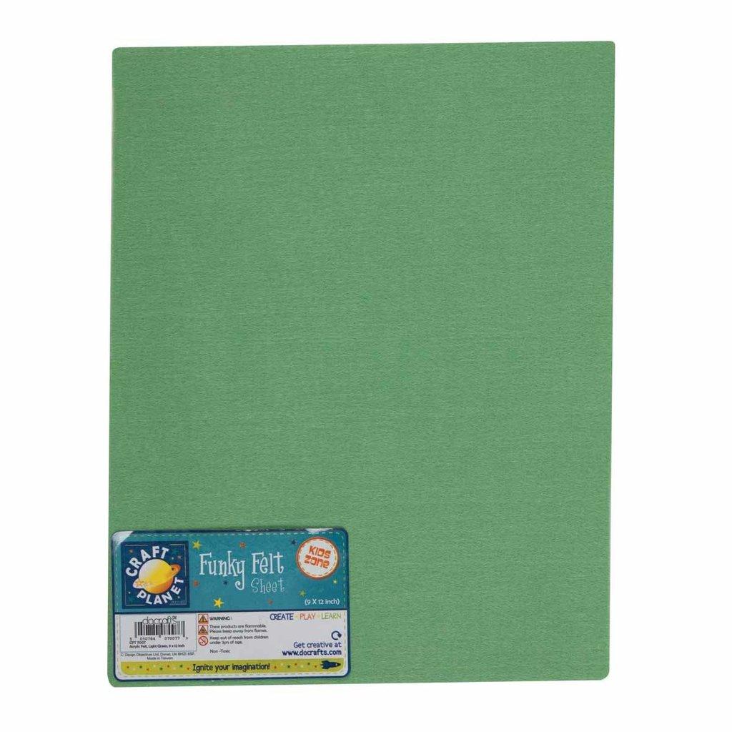 Foglio pannolenci 23x30 cm - Verde chiaro