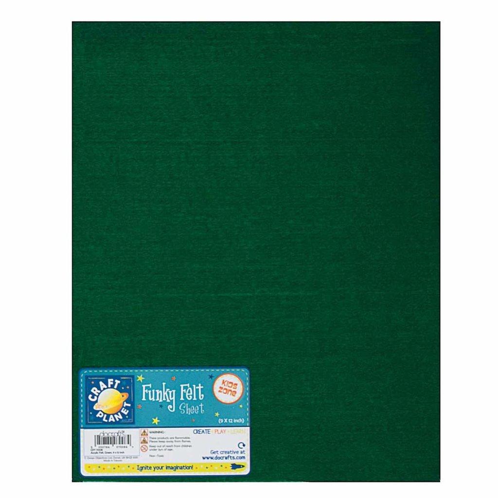 Foglio pannolenci 23x30 cm - Verde