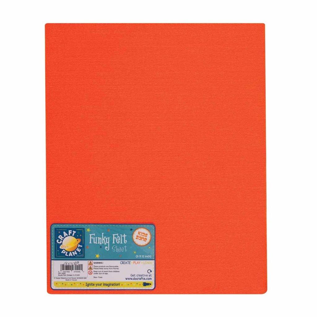 Foglio pannolenci 23x30 cm - Arancione