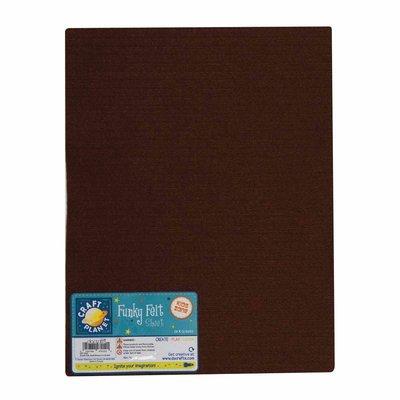 Foglio pannolenci 23x30 cm - Marrone scuro