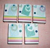 Scatoline decorate per regali - Packaging in Azzurro - Lotto (5pz)