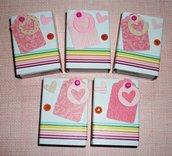 Scatoline decorate per regali - Packaging in Rosa - Lotto (5pz)