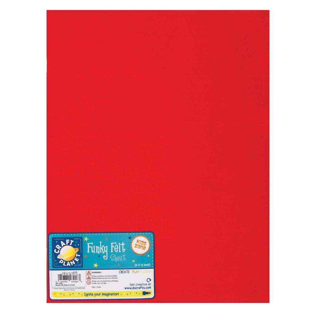 Foglio pannolenci 23x30 cm - Rosso