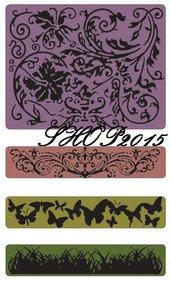 Sizzix Texture Fades Embossing Primavera per bordure 4 mascherine