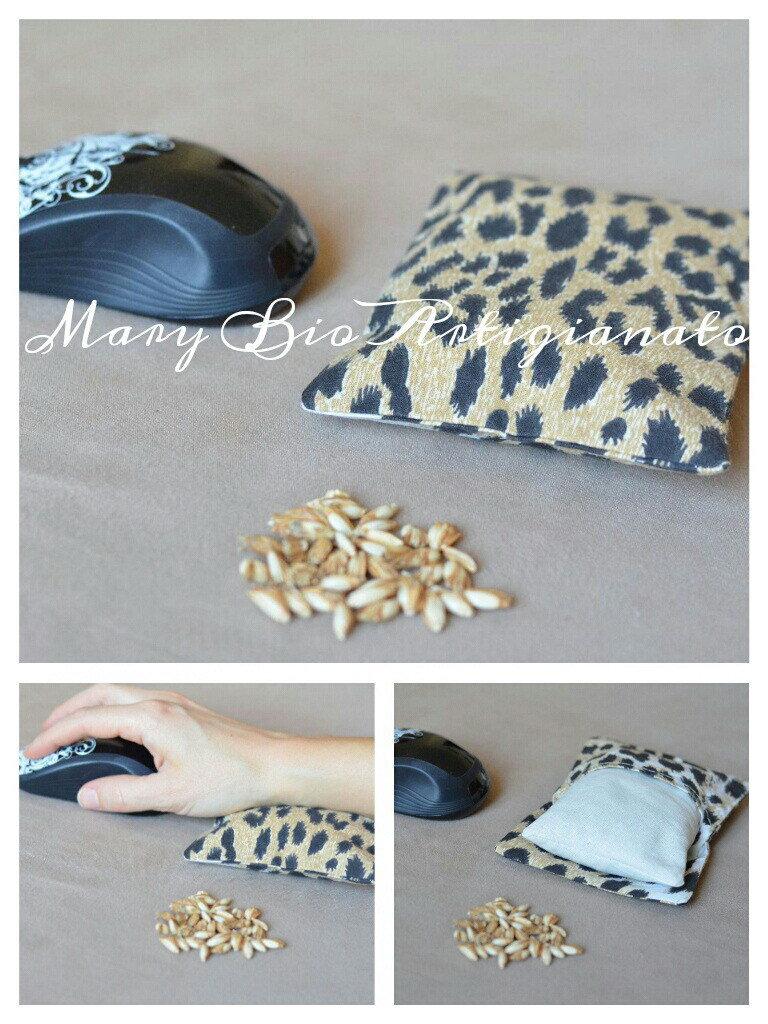 Poggiapolso mouse pula di farro 11 x 15 cm