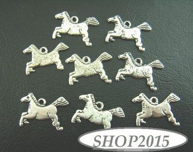 Charm Ciondolo cavallo  Argento antico 1,3×2cm