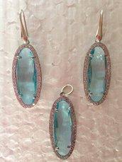 Completo (orecchini e ciondolo) in argento 925