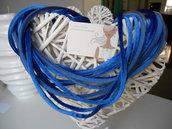 collana multifilo in velluto bleu e retina grigia