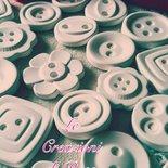 Gessi bottoni gessetti profumati bomboniera battesimo segnaposto matrimonio
