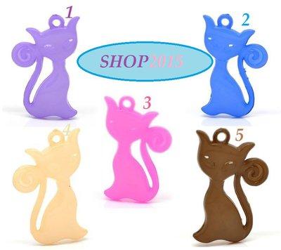 Charm Ciondolo  gatto  4.2×2.6cm  vari colori