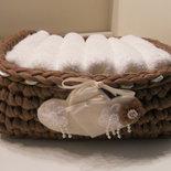 Cestino porta lavette con cuoricini