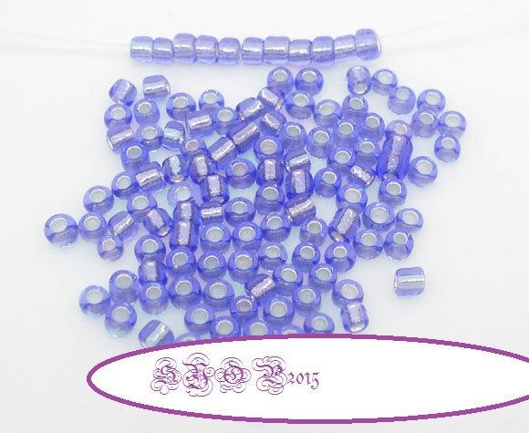 100  Rocailles Perline Conteria Violetto 2 mm