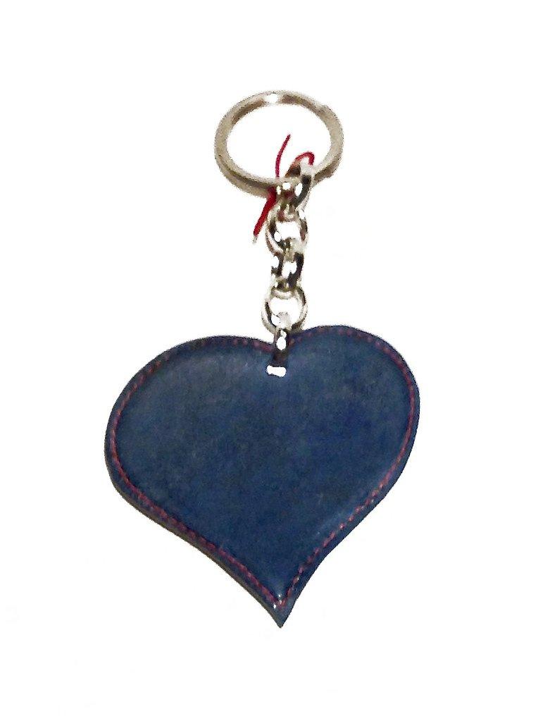 Portachiavi donna con il cuore bicolore, verde a azzurro