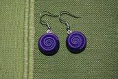 Orecchini Spirale blu viola