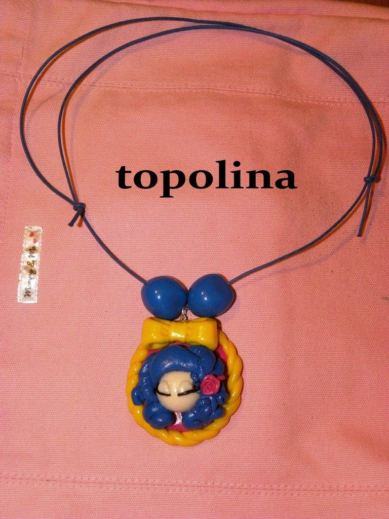 Collana bambolina blu