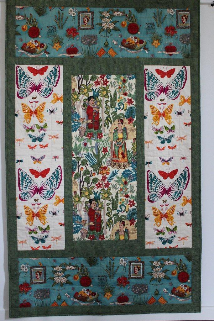 Trapunta patchwork pannello decorativo in cotone stile - Pannello decorativo design ...