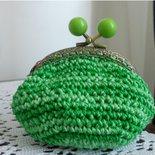 Portamonete color verde