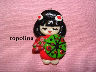 Ciondolo kawaii Japan Girl