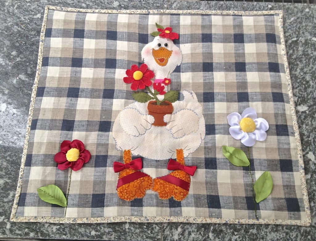 copri piano cottura  in stoffa americana con papera