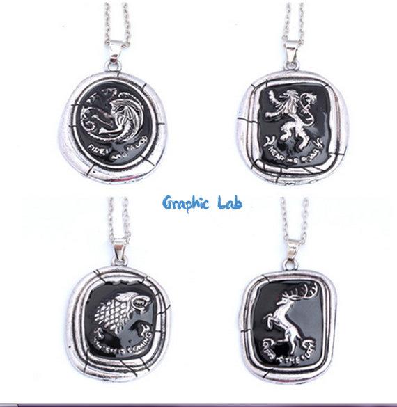 Collana Game of Thrones Il Trono di Spade Lannister, Stark, Targaryen, Baratheon