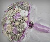 *Bouquet da sposa gioiello lilac.Bouquet in tessuto.*