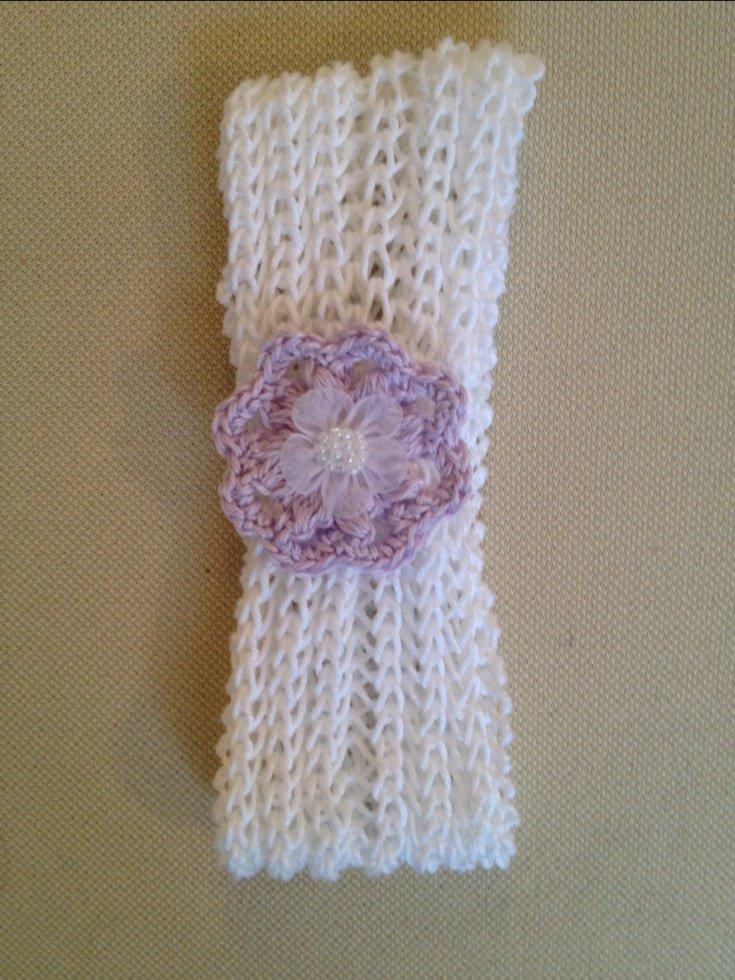 Fascetta neonata cotone fatta a mano