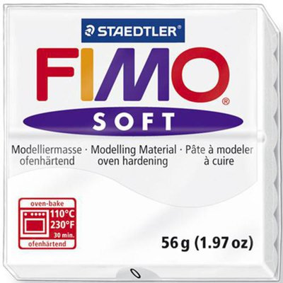 Panetto Fimo Soft 56 gr. - n. 0 Bianco