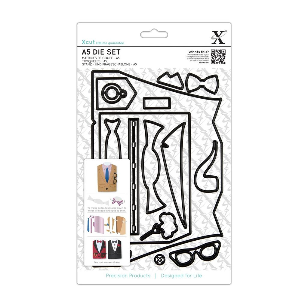 Set fustelle A5 Xcut - Suit Card