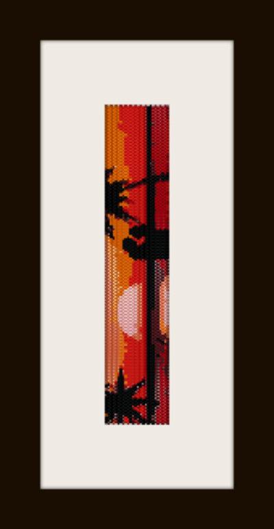 PDF schema bracciale tramonto love in stitch peyote pattern - solo per uso personale