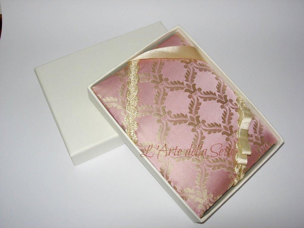 Bomboniera in seta di San Leucio Album piccolo con scatola