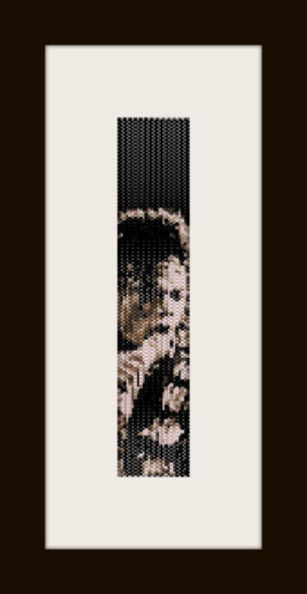 PDF schema bracciale Michael Jackson 3 in stitch peyote pattern - solo per uso personale